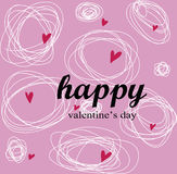 Ideal feliz del día de tarjetas del día de San Valentín para la tarjeta o el fondo de felicitación Foto de archivo libre de regalías
