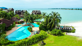 Ideal holiday resort at Langkawi Stock Photos