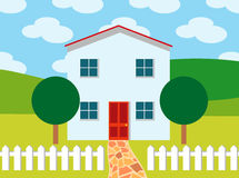 Ideal home. Illustration of a house - ideal conditions Stock Photography