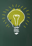 Ideal light bulb Royalty Free Stock Image