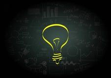 Ideal light bulb Royalty Free Stock Photos