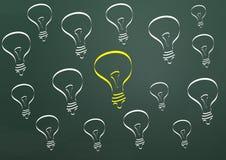 Ideal light bulb Stock Photo