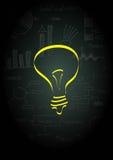 Ideal light bulb Stock Image