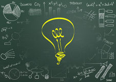 Ideal light bulb Stock Images