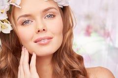Ideal makeup Fotografering för Bildbyråer