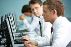 Ideal office worker Royalty Free Stock Images