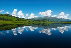 Ideal reflection in lake Stock Photo