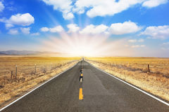 Ideal road Royalty Free Stock Images
