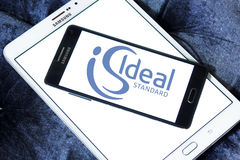 Ideal standard logo. Logo of bathroom appliance manufacturer ideal standard on samsung mobile phone on samsung tablet Stock Images