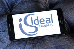 Ideal standard logo. Logo of bathroom and kitchen appliance manufacturer ideal standard on samsung mobile phone Royalty Free Stock Photography