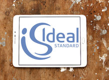 Ideal standard logo. Logo of bathroom and kitchen appliance manufacturer ideal standard on samsung tablet on wooden background Royalty Free Stock Images