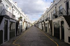 Ideal symmetry of a street in London. royalty free stock photography