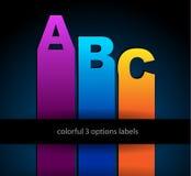 Ideal voor Webgebruik, depliant voor productcompari Stock Afbeeldingen