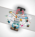 Ideal Workspace for teamwork and brainstorming Royalty Free Stock Images