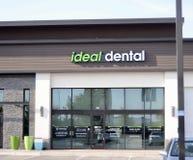 Ideale zahnmedizinische Speicher-Front, Forth Worth, Texas Stockbild