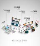 Idealer Arbeitsplatz für Teamwork und Brainstorming Stockfotografie