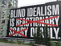 Idealism. Words from the High Line Stock Image