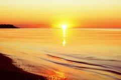 Idealistic gentle morning seascape. Stock Image