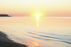 Idealistic gentle morning seascape. Royalty Free Stock Image