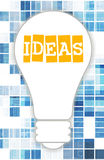 Ideas. Thinking Concept with a Light Bulb vector illustration