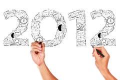 ideas 2012 del concepto del plan empresarial Imagenes de archivo