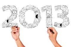 ideas 2013 del concepto del plan empresarial Imagen de archivo