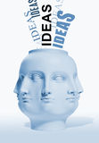 Ideas. A statue with many faces coming up with alot of ideas Royalty Free Stock Photo