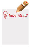 Ideas. Having great ideas and improve life, career or organization Royalty Free Stock Image