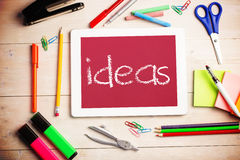 Ideas against red background Royalty Free Stock Images