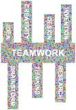 Ideas around teamwork Stock Image