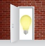 Ideas behind a door. illustration design Royalty Free Stock Photo