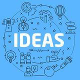 Ideas Blue Lines Illustration Stock Images