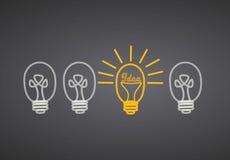 Ideas brillantes Imágenes de archivo libres de regalías