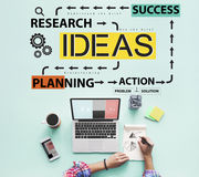 Ideas Business Planning Flow Chart Concept Stock Photography