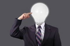 Ideas in the Business World with Neutral Background Stock Photo