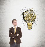 Ideas about business Royalty Free Stock Photos