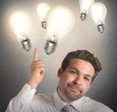 Ideas of businessman Royalty Free Stock Photos