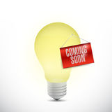 ideas coming soon concept. illustration Royalty Free Stock Photo