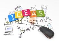 Ideas como concepto Imagen de archivo