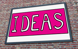Ideas concept on a billboard Royalty Free Stock Photos