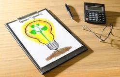 Ideas concept on a desk Stock Images