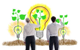 Ideas concept drawn by businessmen Royalty Free Stock Photos