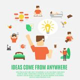 Ideas Concept Flat Royalty Free Stock Photos