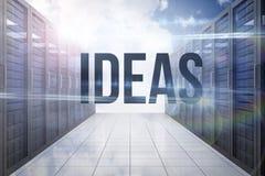 Ideas contra vestíbulo del servidor en el cielo Imagen de archivo