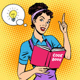 Ideas cookbook housewife Royalty Free Stock Images