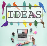 Ideas Create Creative Creativity Thoughts Concept Royalty Free Stock Images