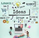 Ideas Create Inspiration Innovation Design Concept.  Stock Photography