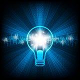 Ideas creativas bajo la forma de bombillas Fotos de archivo