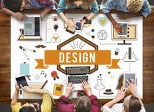 Ideas creativas Planning Sketch Concept modelo del diseño Fotografía de archivo
