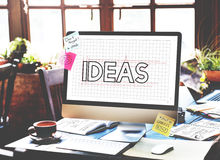 Ideas Creative Design Draft Graphic Concept Royalty Free Stock Photos
